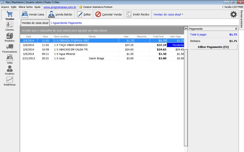 Software para assistência técnica: NEX.