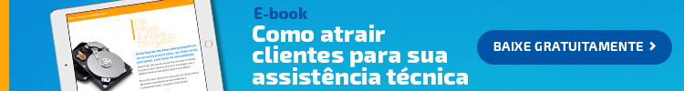 """Banner para o e-book """"Como atrair clientes para sua assistência técnica""""."""