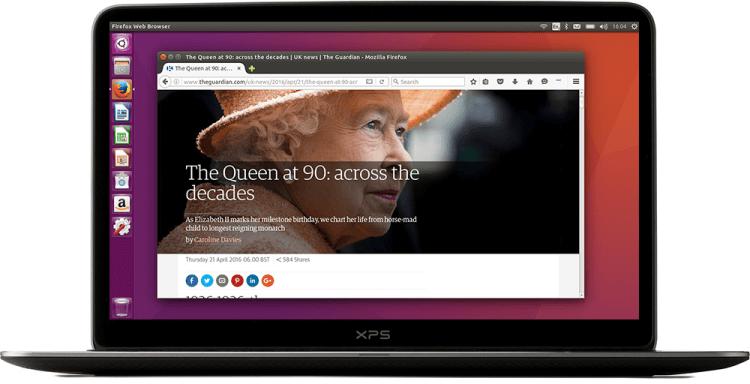 Notebook com Ubuntu instalado.