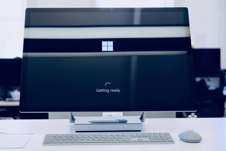 Imagem da tela de inicialização do Windows.