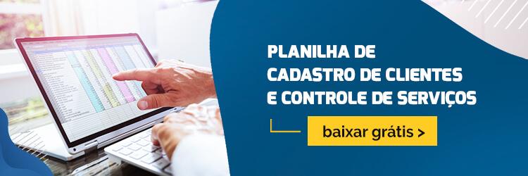 Banner para download da planilha de cadastro de clientes e controle de serviços da ELGScreen.