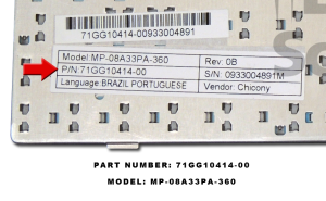 Part Number e modelo
