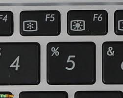 controle de brilho no teclado