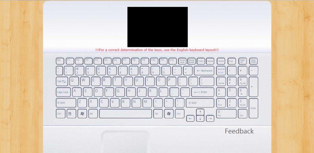 Repare que este teste esta considerando um teclado com padrão US-International.