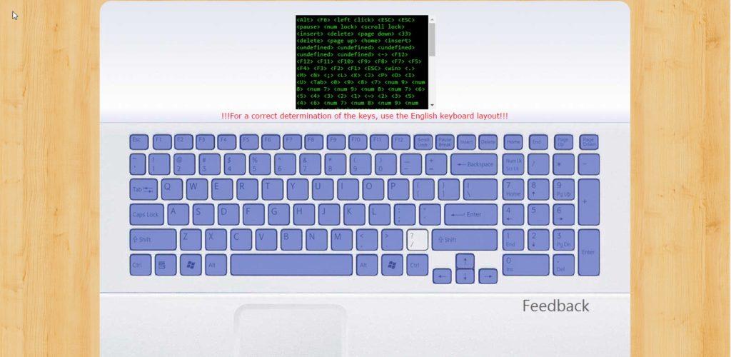 Exemplo de teclado com configuração errada.