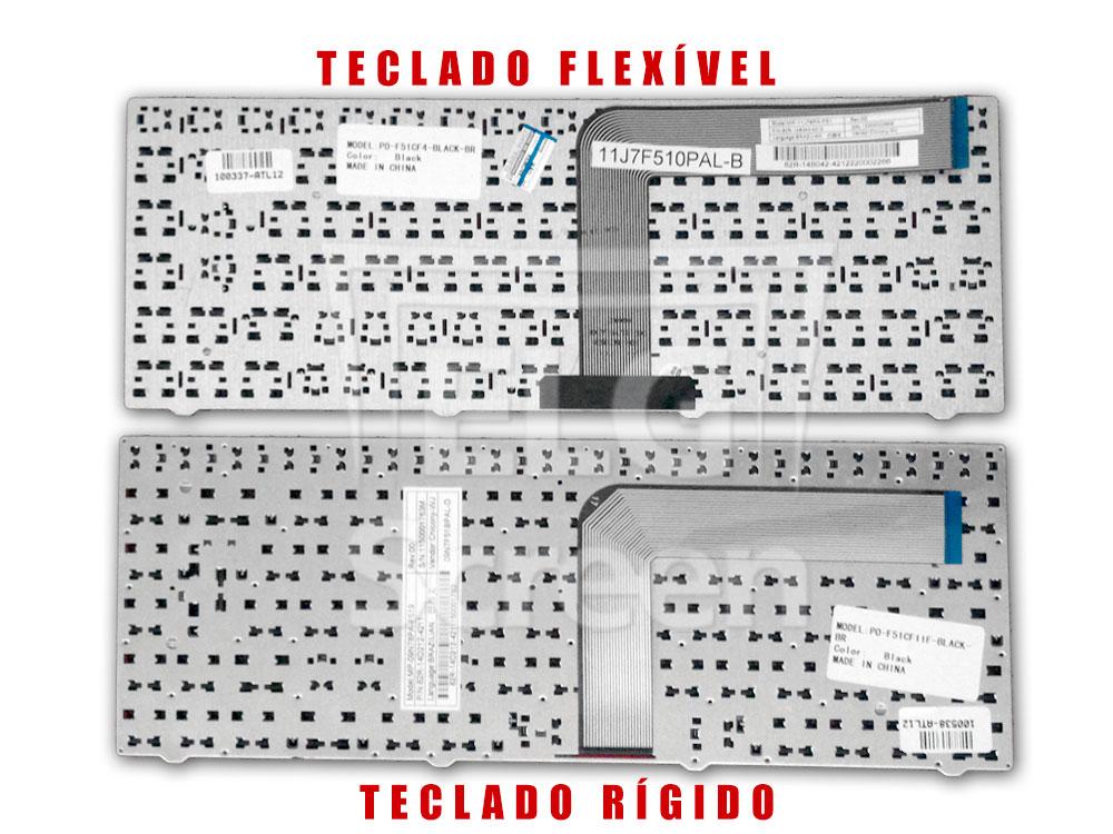 cabo flat do teclado