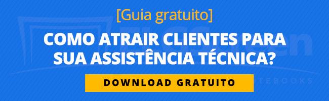 """Banner para a página de download do e-book """"Como atrair clientes""""."""