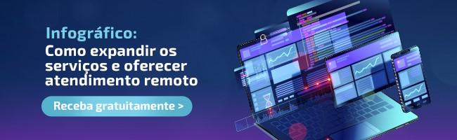 Banner para a página de download do infográfico sobre expansão de serviços e atendimento remoto.